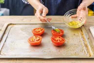 Roast the tomatoes