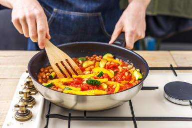 Simmer the veg