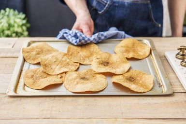 Bake the tortillas