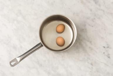 Boil the eggs (optional)