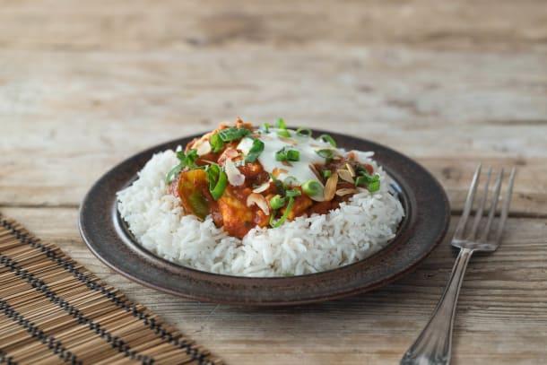 Puten-Curry mit grüner Paprika