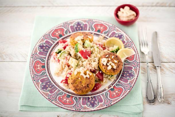 Falafels with Quinoa Tabbouleh