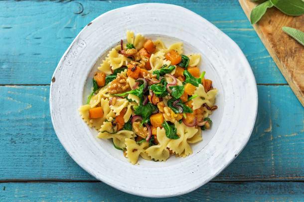 Vegetarian Recipes - Pumpkin, Sage & Brown Butter Farfalle