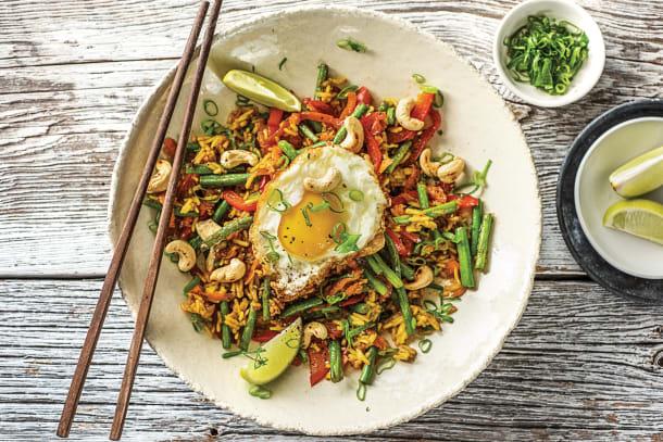 (Vegetarian) Nasi-Goreng Style Veggie Packed Rice