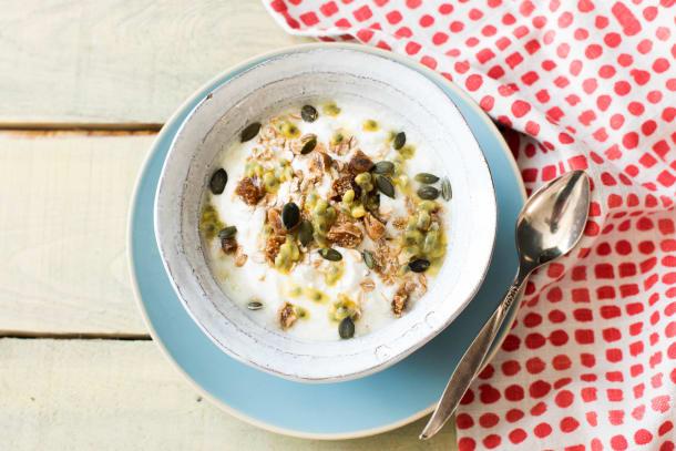 Griekse yoghurt met passievrucht