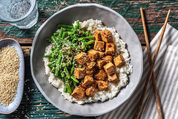 Tofu mariné au miel et à la sauce soja