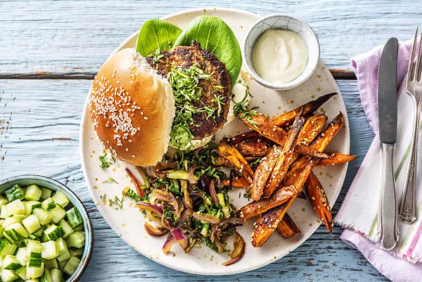Hamburger épicé à l'asiatique