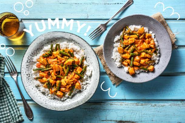 Bunt und lecker: Hähnchen-Kokos-Curry