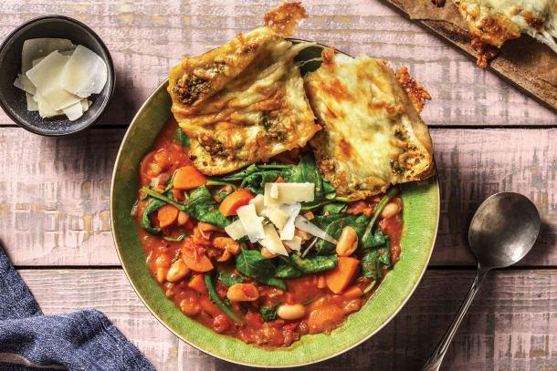Quick Dinner Ideas - Tuscan Veggie Bean Soup