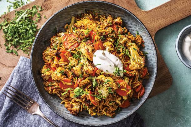 Vegetarian Recipes - Roast Cauliflower Biryani