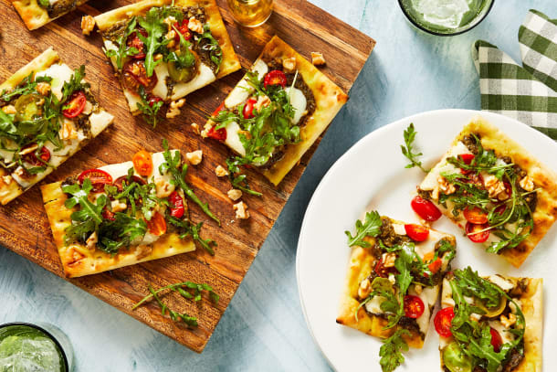 Quick meals - Heirloom Tomato Flatbreads
