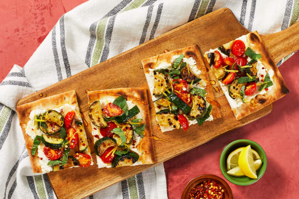 Quick meals - Zucchini and Tomato Flatbreads