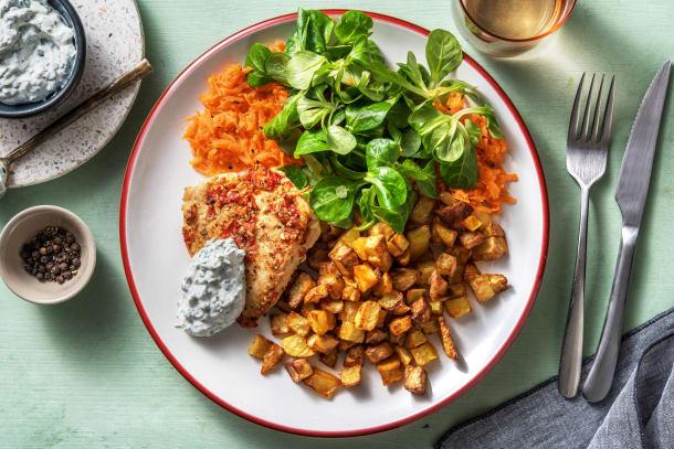 Gesunde Gerichte - Scharfe Hähnchenbrust mit Kartoffel