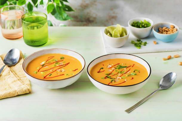 Thai-Kokos-Süßkartoffel-Suppe