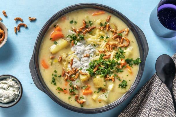 Gesunde Gerichte - Cremiger Kohlrabi-Kartoffel-Eintopf