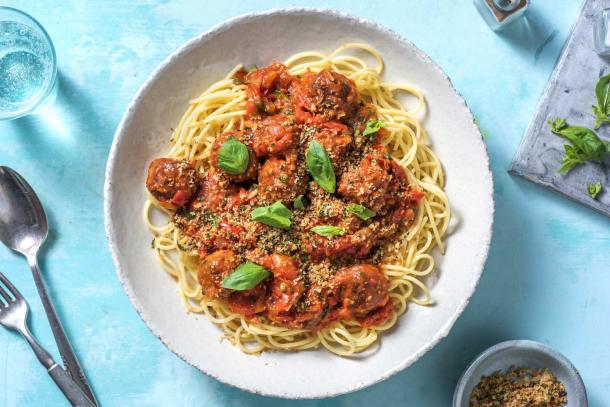 Recettes rapides - Boulettes végétales à la sauce tomate