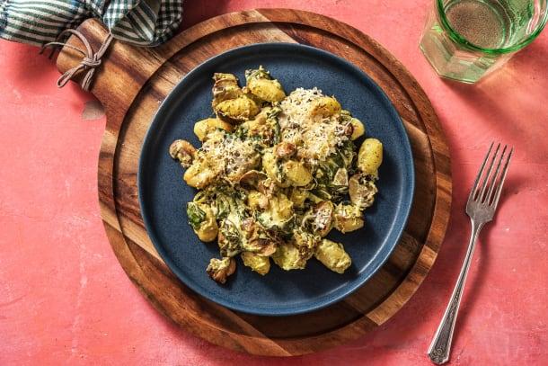 Schnelle Gerichte - Gnocchi-Spinat-Auflauf