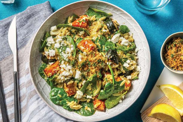 Quick Meals - Pesto, Roast Pumpkin & Fetta Risoni