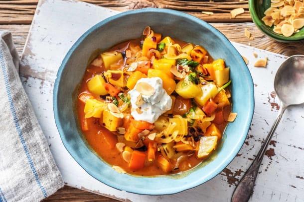 Schnelle Gerichte - Cremiger Süßkartoffeleintopf