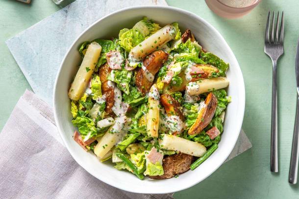 Gesunde Gerichte - Spargelsalat mit Kartoffeln aus dem Ofen