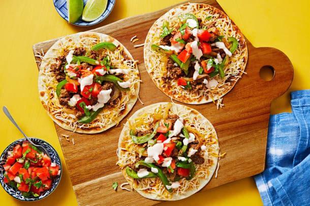 Hall Of Fame - Cheesy Beef Tostadas