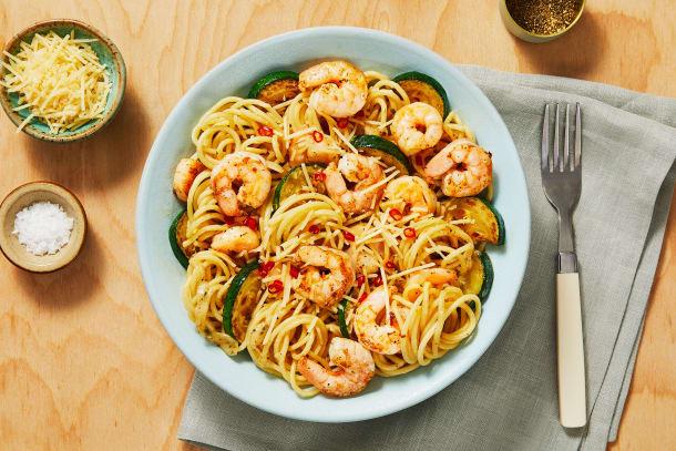 Shrimp Spaghetti with a Kick