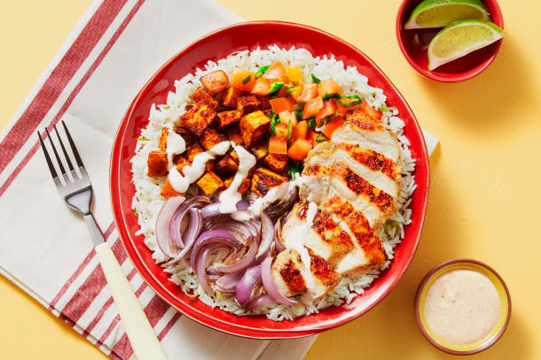 Chipotle Chicken & Rice Bowls