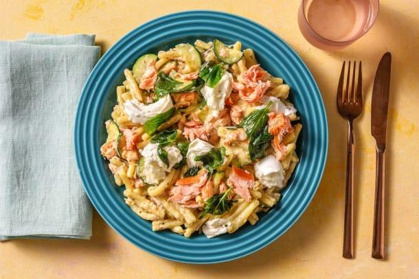 Schnelle Gerichte - Strozzapreti mit Pulled Lachs