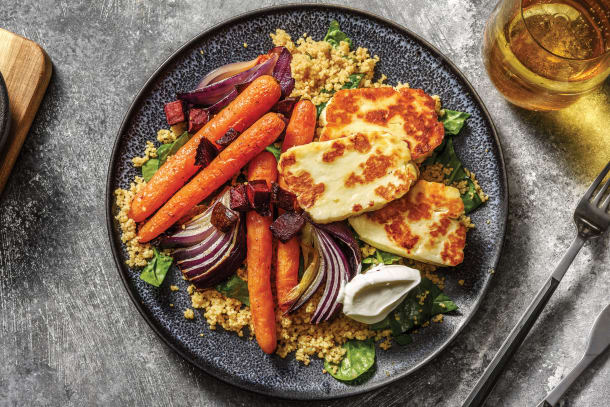 Quick Meals - Golden Haloumi & Baby Carrots