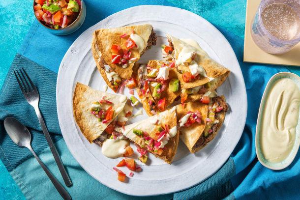 Schnelle Gerichte - Hello Quesadillas! Gebackene Käse-Tortillas