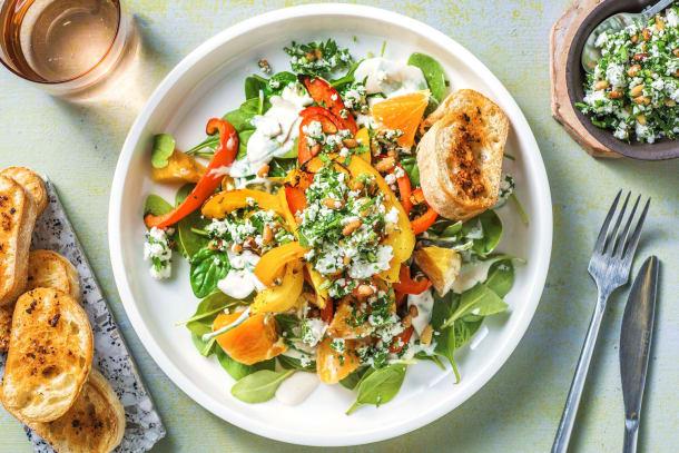 Schnelle Gerichte - Sommerlicher Spinatsalat
