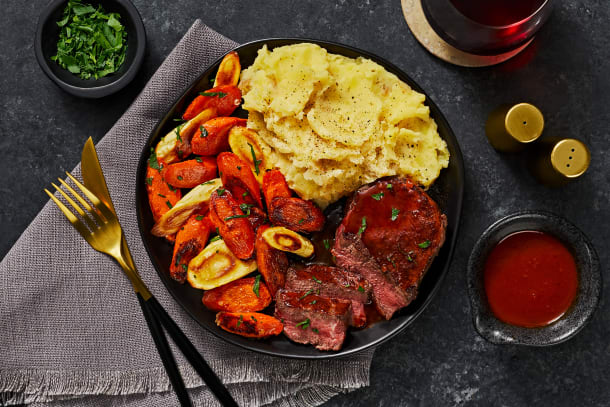 Beef Tenderloin & Brown Butter Veggies