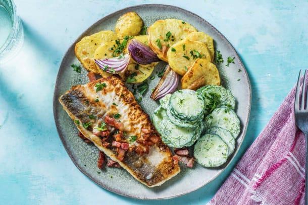 Gesunde Gerichte - Fischfilet auf Finkenwerder-Art
