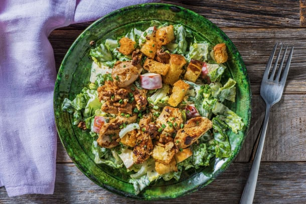 Thermomix Rezepte - Hähnchensalat nach Waldorf-Art mit Croûtons