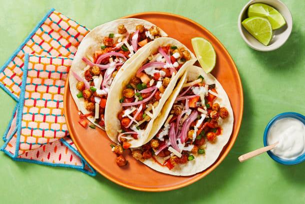 Chickpea Tinga Tacos