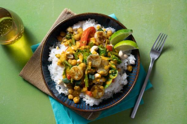 Süßes gelbes Curry mit Banane