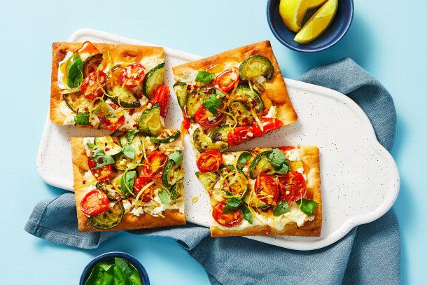 Zucchini & Tomato Flatbreads