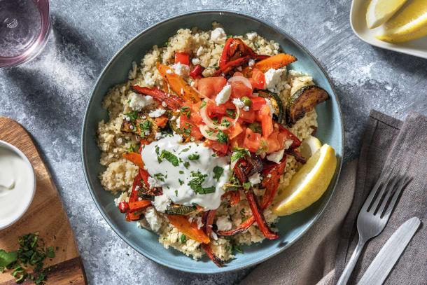 Couscous mit Dukkah-Ofengemüse