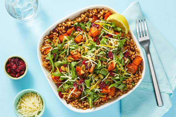 Roasted Veggie Farro Bowls