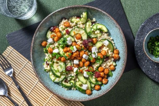 Perlencouscous-Salat mit Ziegenkäse