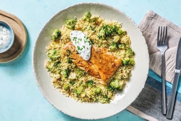 Schelvis piri-piri met kruidige couscous