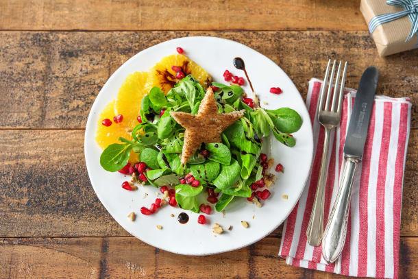 Als Vorspeise: Feldsalat mit Granatapfel