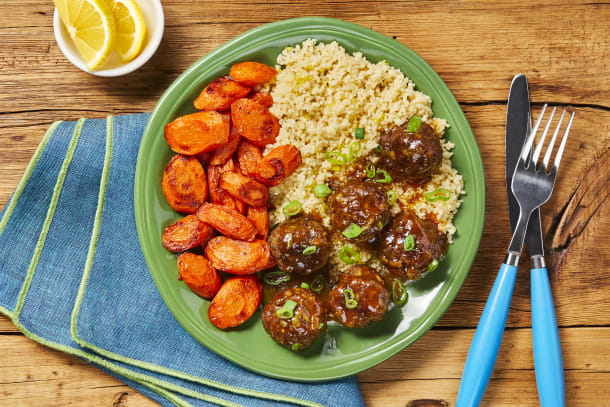 Meatballs with an Apricot Glaze