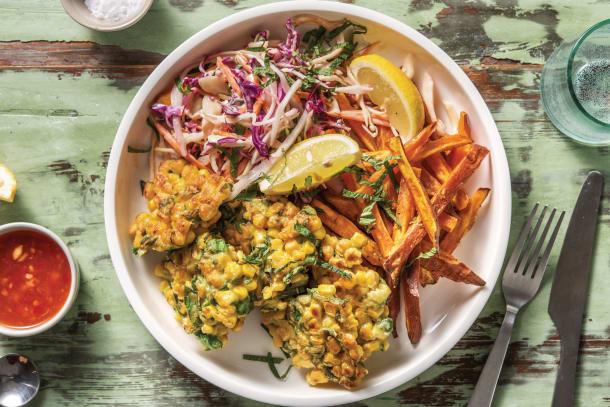 Asian Corn & Kaffir Lime Fritters