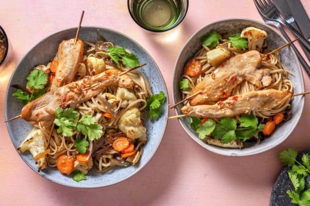 Kalorisnåla måltider - Asiatiska kycklingspett