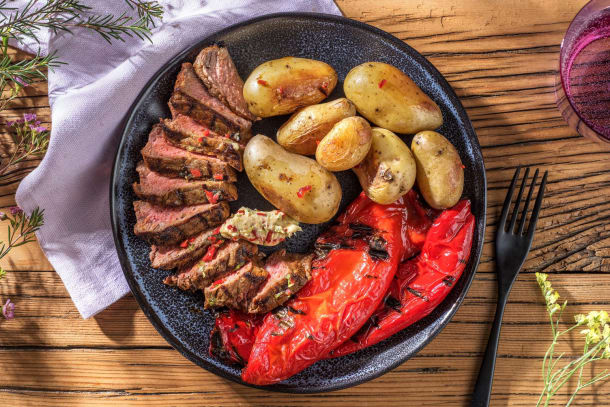 Thermomix Rezepte - BBQ-Rindersteaks mit feuriger Limettenbutter
