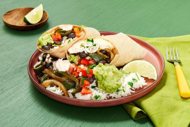 Black Bean & Poblano Burritos