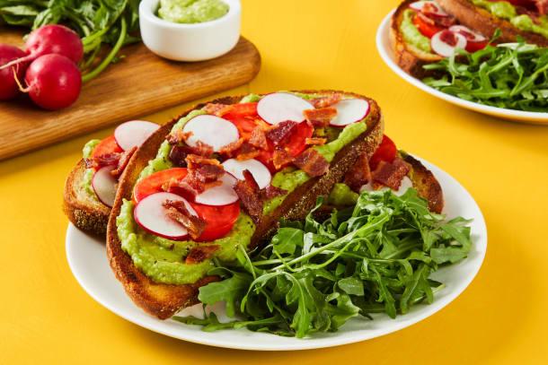 BLTR Avocado Toasts