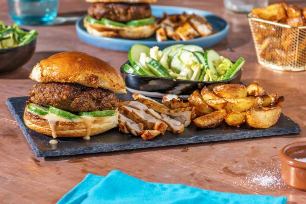 Bulgogi Burger and Sticky Bulgogi chicken