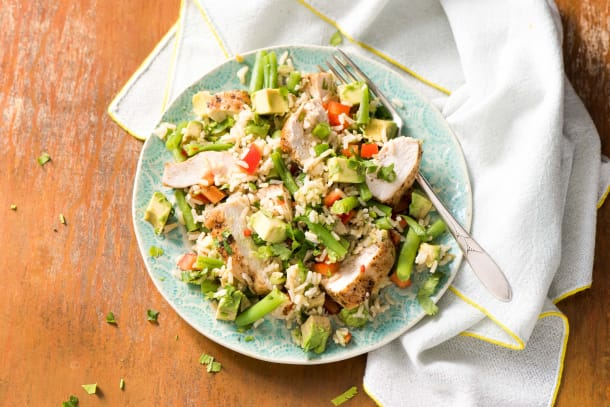 Cajun Chicken & Brown Rice Salad